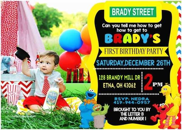 Sesame Street Party Invitations Free Sesame Street Birthday Invitations