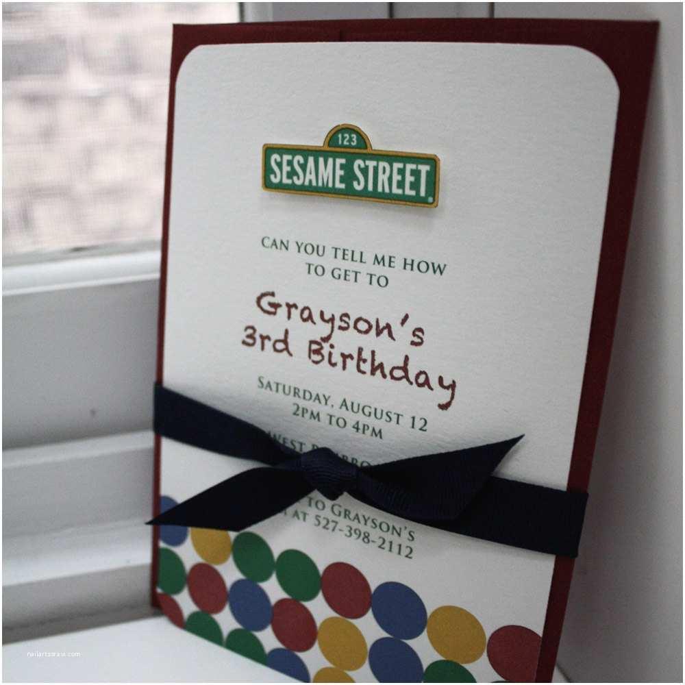 Sesame Street Party Invitations Items Similar To Sesame Street Invitations On