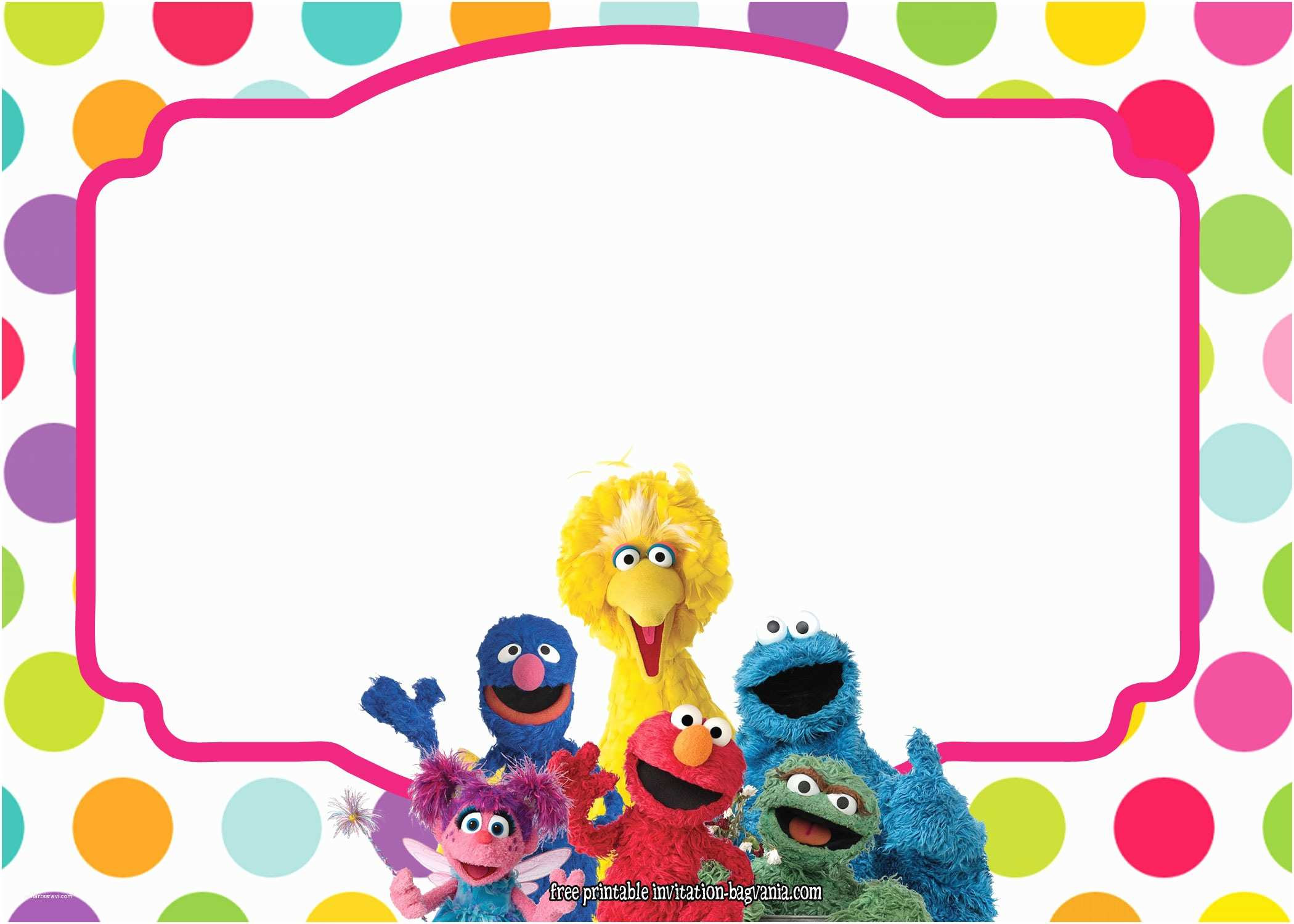 Sesame Street Party Invitations Sesame Street All Characters Invitation Template