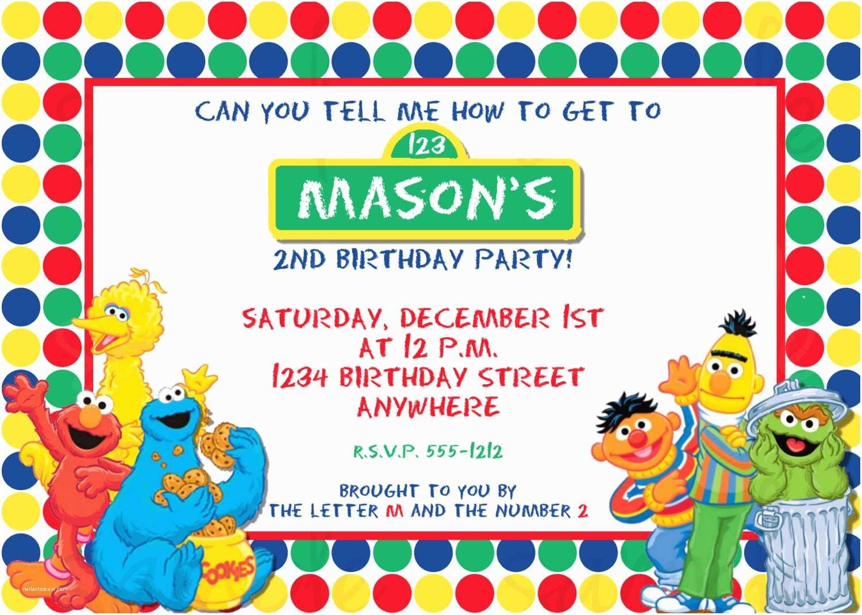 Sesame Street Party Invitations Birthday Invitation Elmo