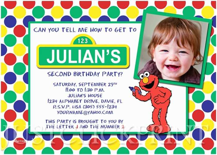 Sesame Street Party Invitations Sesame Street Elmo Birthday Invitation Printable ·