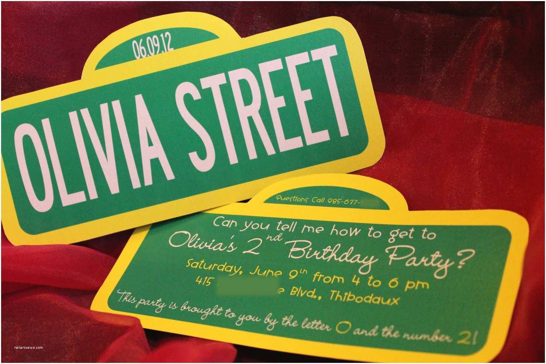 Sesame Street Party Invitations Sesame Street Hand Cut Sign Invitations by Makemydayllc