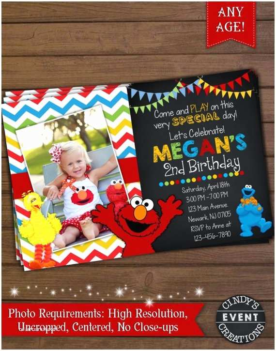 Sesame Street Party Invitations Sesame Street Invitation Elmo Invitation