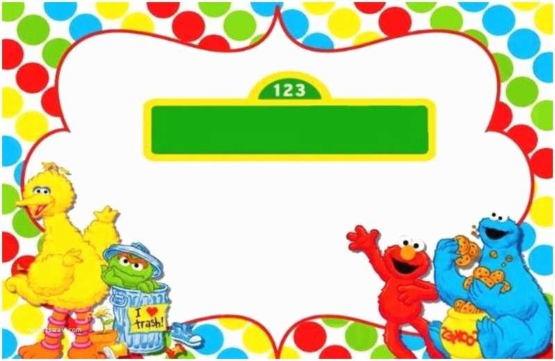 Sesame Street Party Invitations Sesame Street Invitation