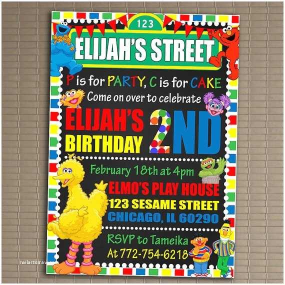 Sesame  Party Invitations Sesame  Invitation You Print Invitation Sesame