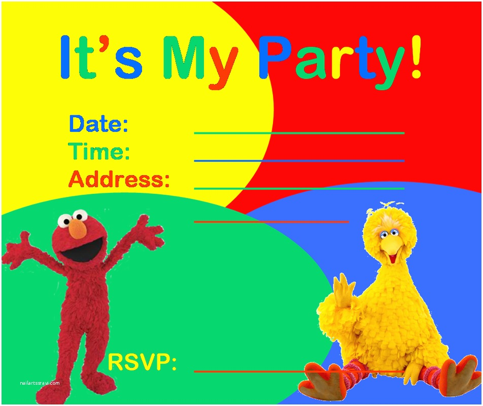 Sesame Street Party Invitations Sesame Street Party Invitations