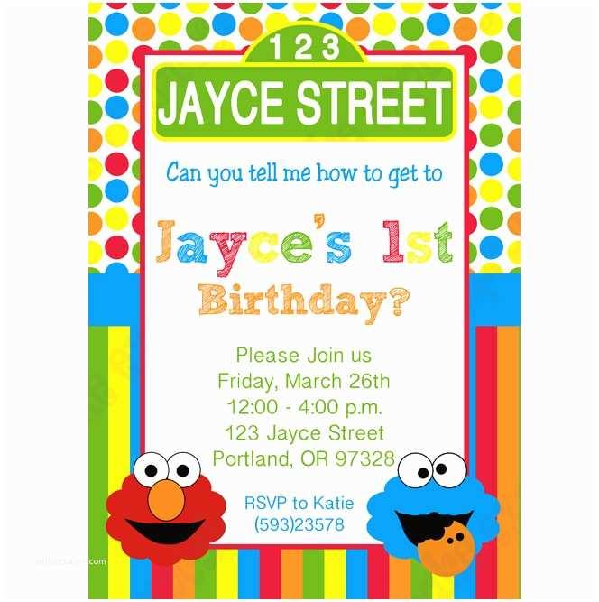 Sesame Street Party Invitations Sesame Street Printable Invitation 3 Diy