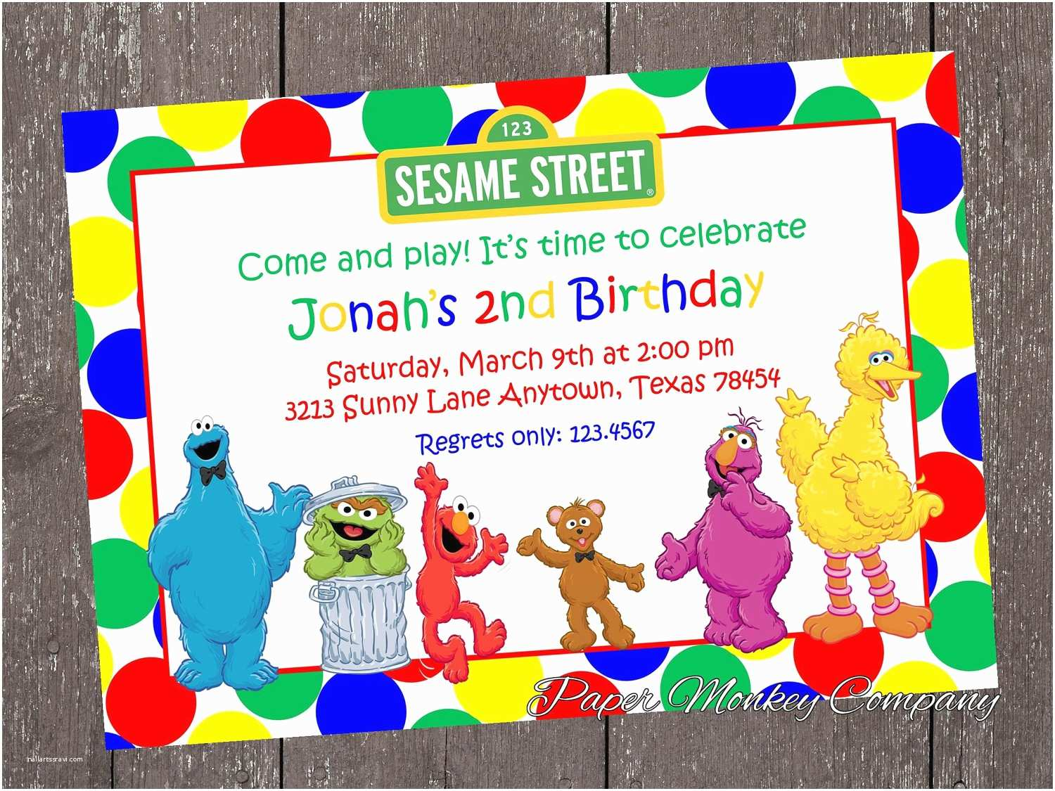 Sesame Street Party Invitations The Gallery For Template