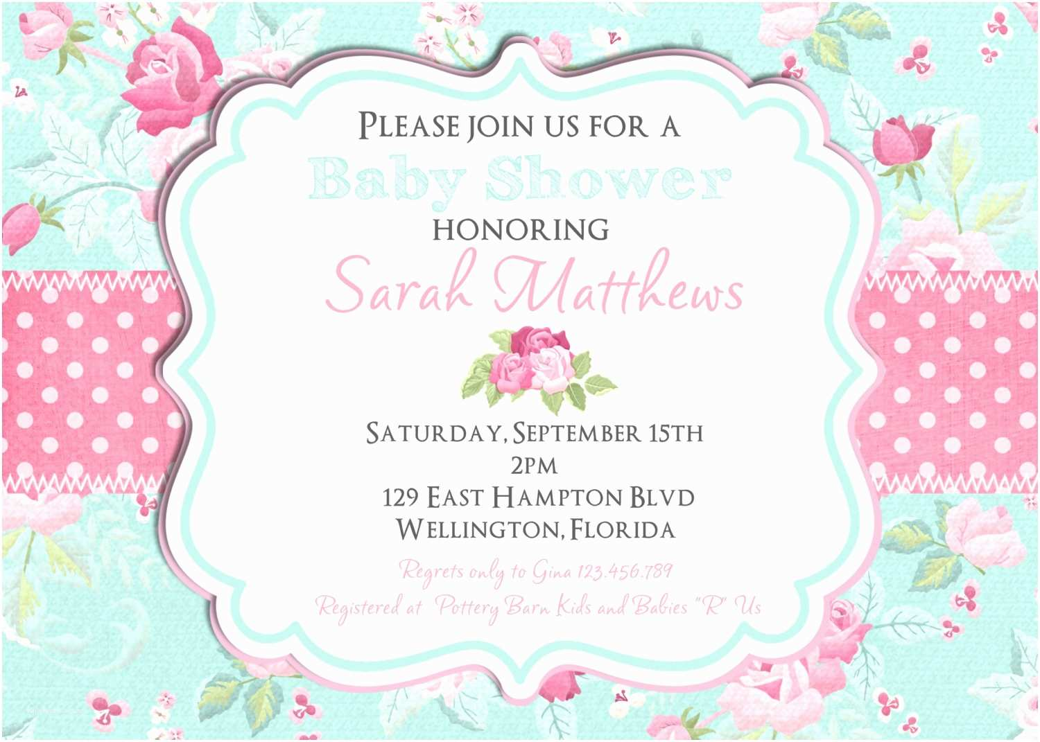 Shabby Chic Baby Shower Invitations Shabby Chic Baby Shower Invitation Girl Baby Shower