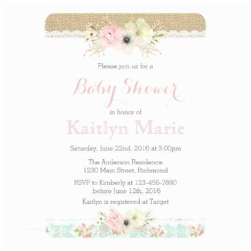 Shabby Chic Baby Shower Invitations Shabby Chic Baby Shower Invitation