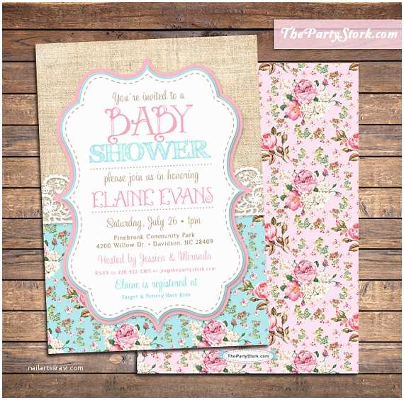 Shabby Chic Baby Shower Invitations Shabby Chic Baby Shower Invitations Baby Sprinkle Invitation