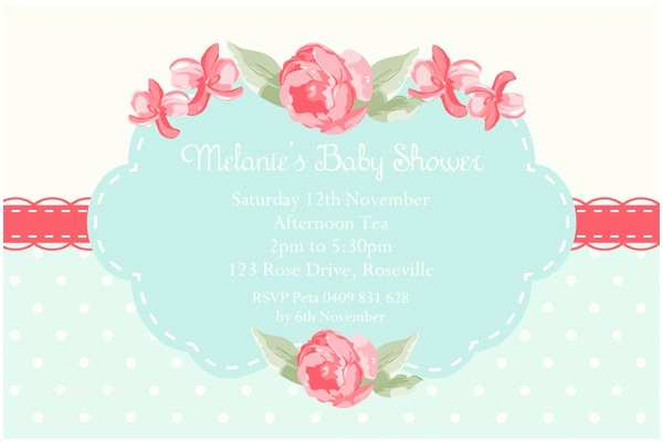 Shabby Chic Baby Shower Invitations Shabby Chic Baby Shower Invitations