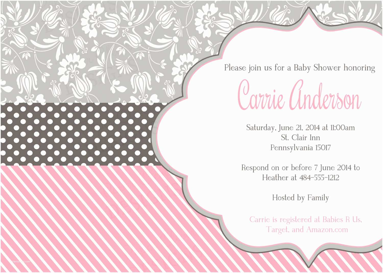 Shabby Chic Baby Shower Invitations Template How to Make Shabby Chic Baby Shower Invitations