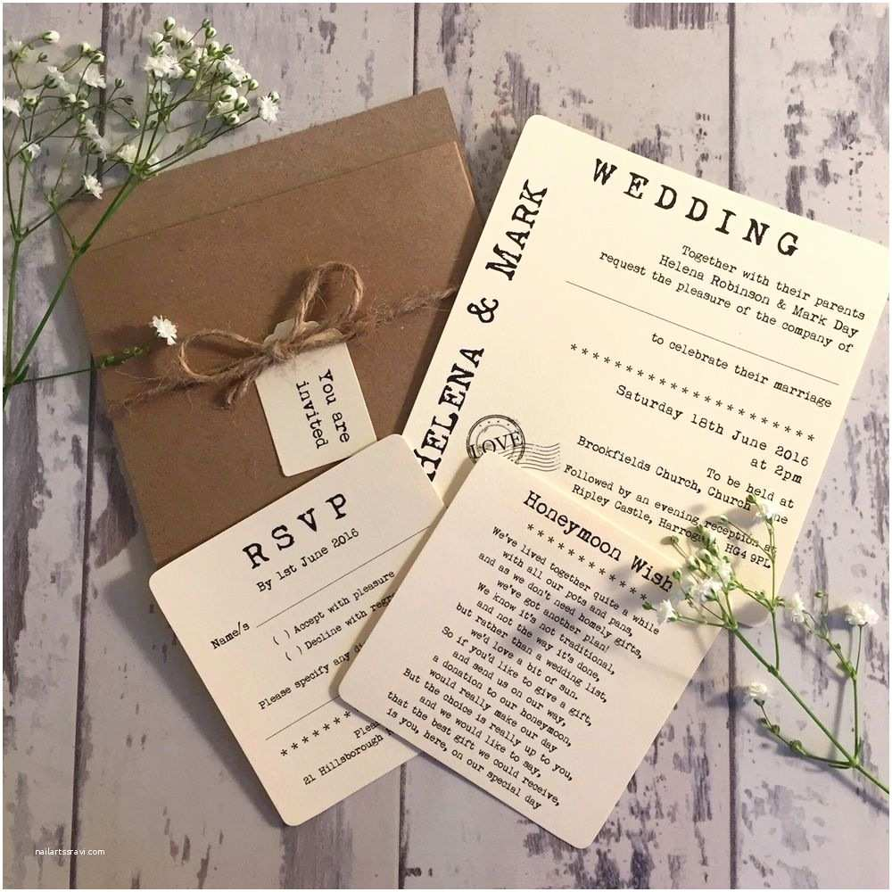 Shabby Chic Wedding Invitations 1 Rustic Vintage Shabby Chic Style Helena Pocket Wedding