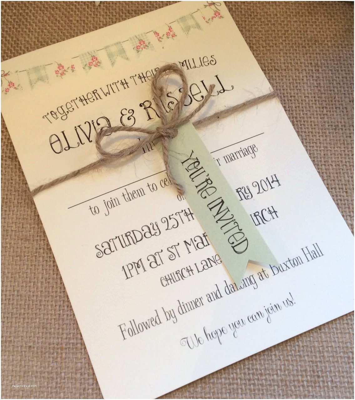Shabby Chic Wedding Invitations 1 Rustic Vintage Shabby Chic Style Wedding Invitation