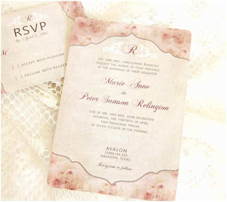 Shabby Chic Wedding Invitations 17 Best Images About Wedding Dream 4 On Pinterest