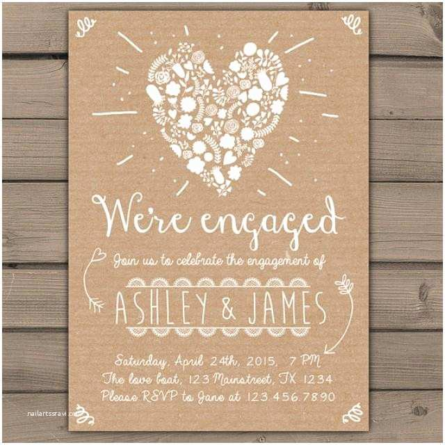Shabby Chic Wedding Invitations Engagement Party Invitation Engagement Party Invite