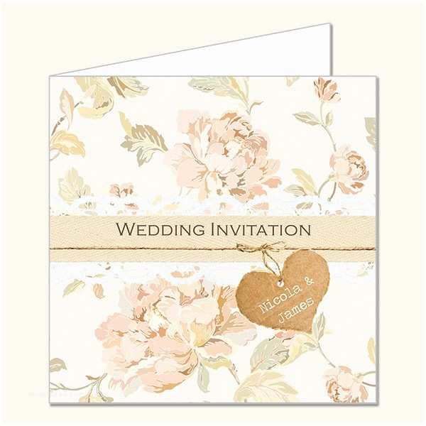 Shabby Chic Wedding Invitations Shabby Chic Flowers Wedding Invitations