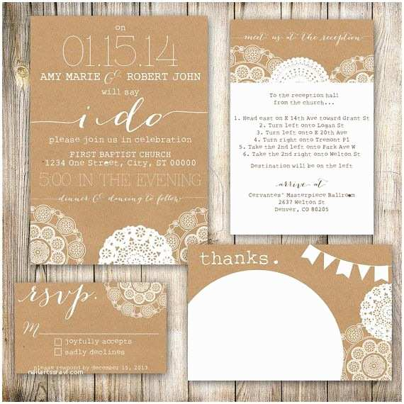 Shabby Chic Wedding Invitations Shabby Chic Wedding Invitations Template