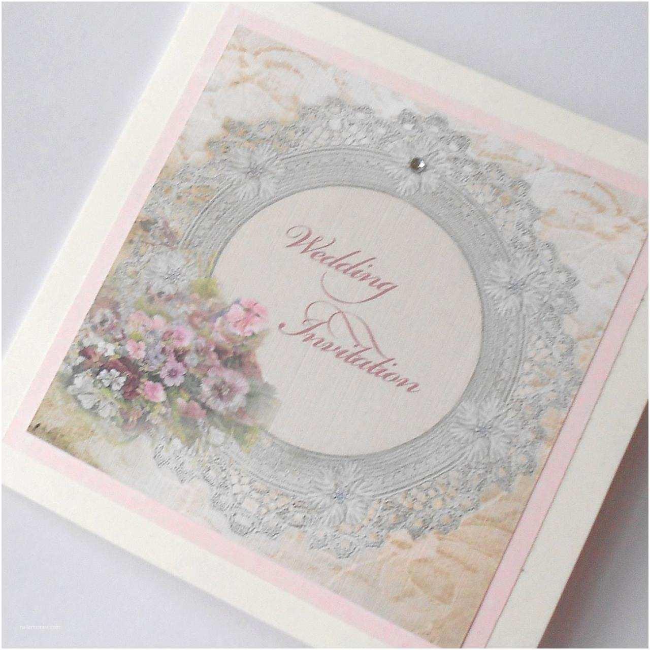 Shabby Chic Wedding Invitations Vintage Shabby Chic Wedding Invitation Lace Frame X 5 Ref