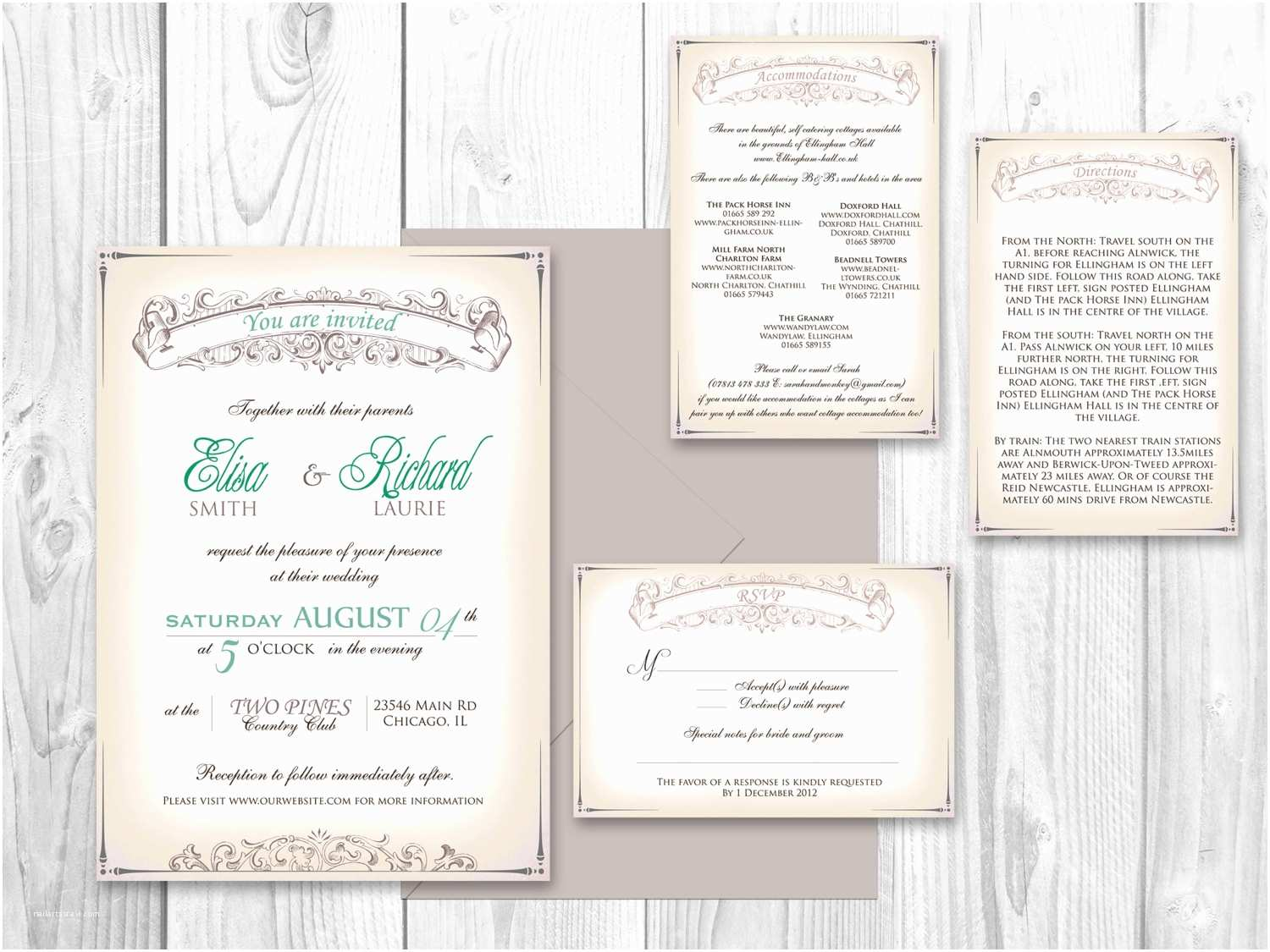Shabby Chic Wedding Invitations Wedding Invitation Printable Shabby Chic by Designedwithamore