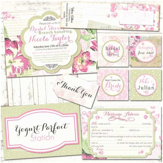 bridal shower shabby chic party pack