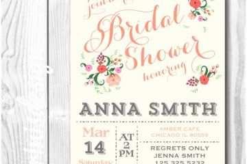 Shabby Chic Wedding Shower Invitations