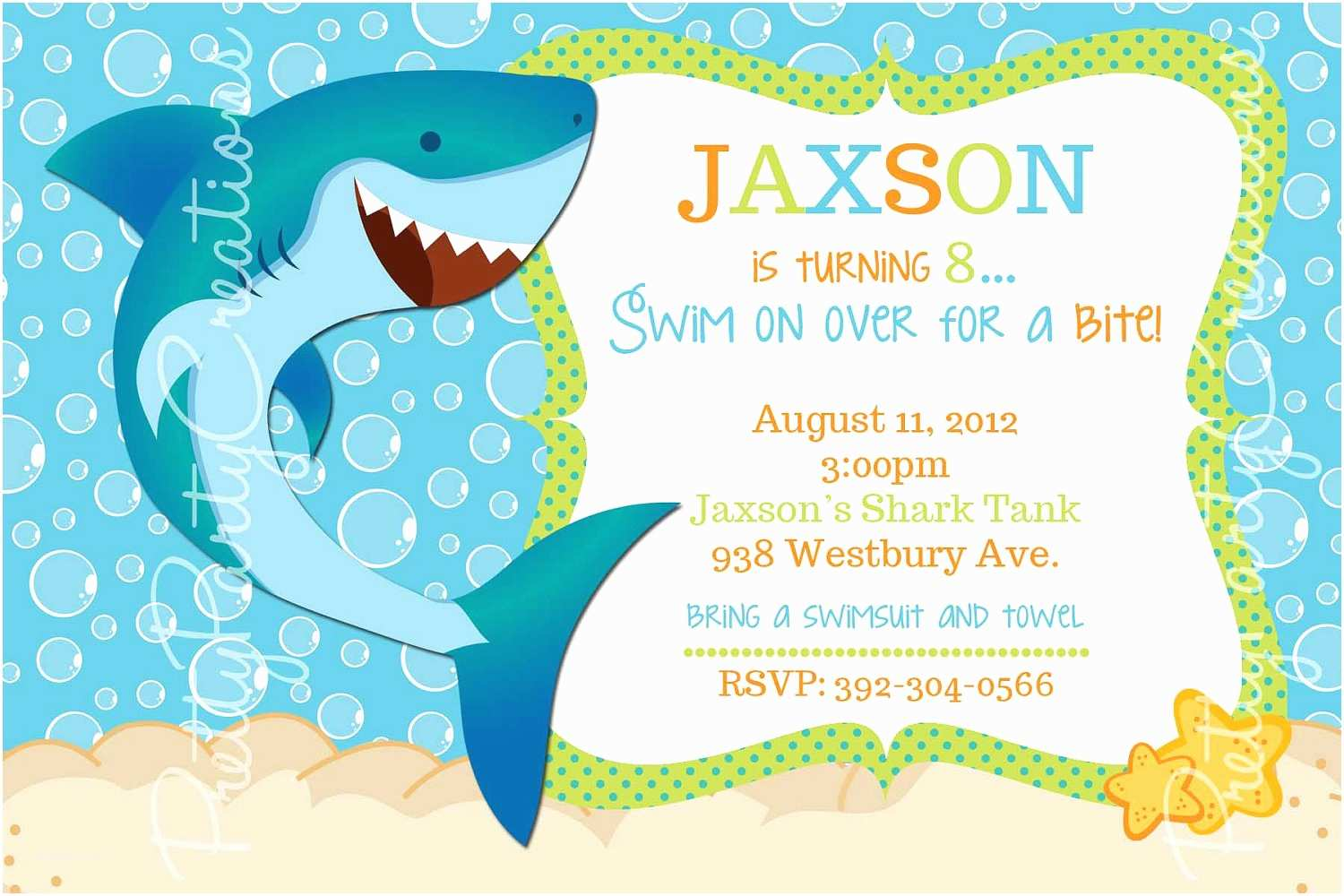 12 mind blowing shark birthday party invitations