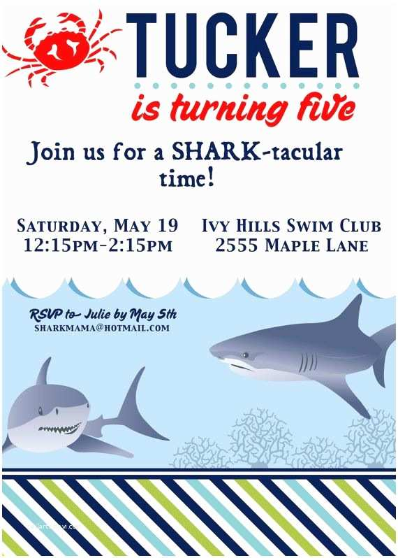 Shark Birthday Invitations 131 Best Images About Shark Party On Pinterest