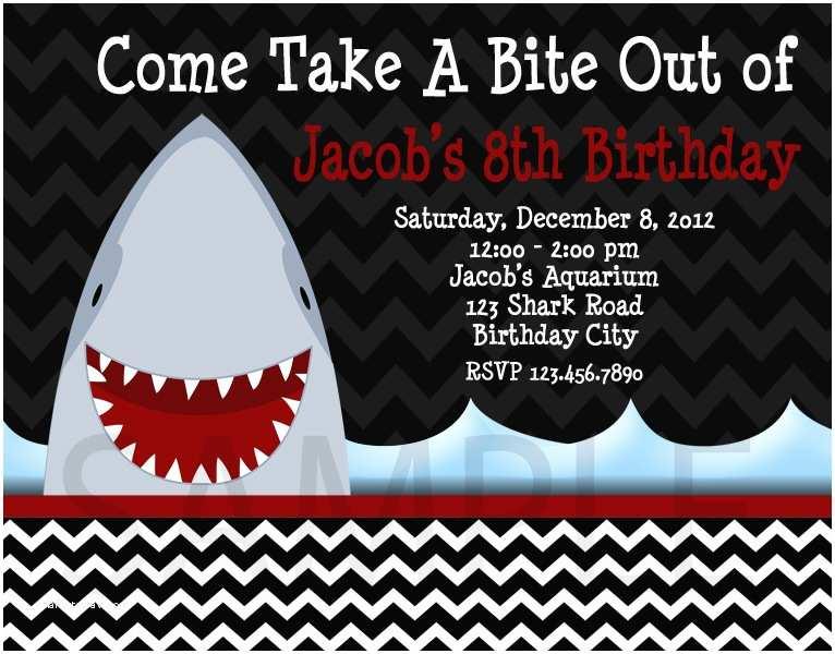 Shark Birthday Invitations Printable Birthday Invitations Little Boys Shark Party
