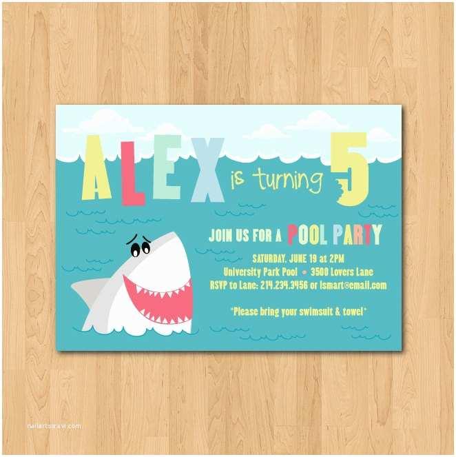Shark Birthday Invitations Shark Birthday Party Invitations – Gangcraft