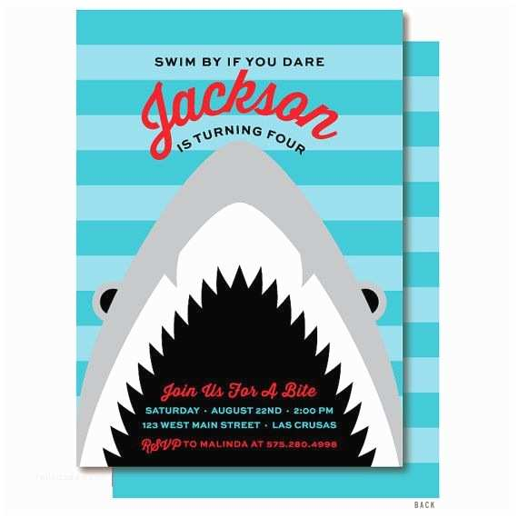 Shark Birthday Party Invitations Best 20 Boy Birthday Invitations Ideas On Pinterest