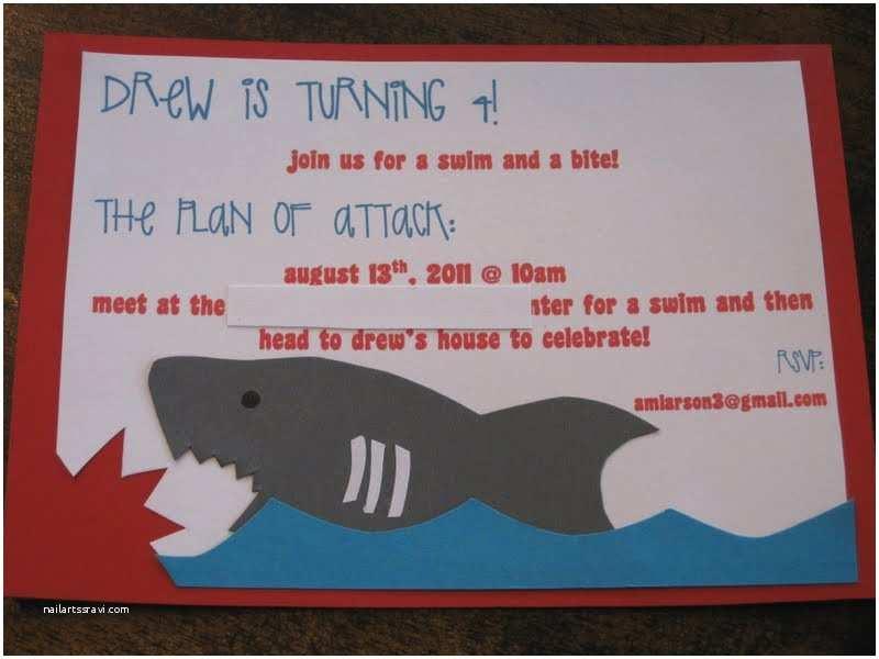 Shark Birthday Party Invitations Life Love Larson Shark Party