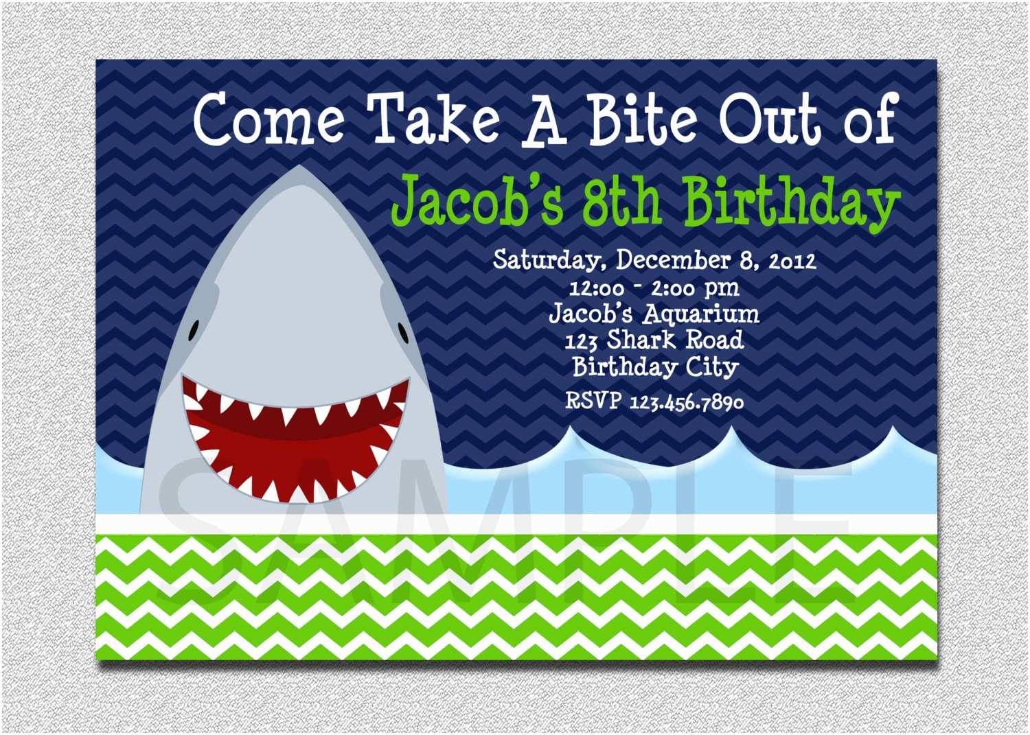 shark birthday invitation shark birthday