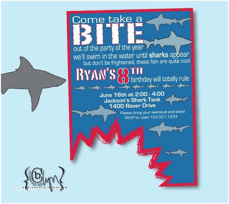 Shark Party Invitations 30 Best Images About Jackson S 8th Birthday Sharks On
