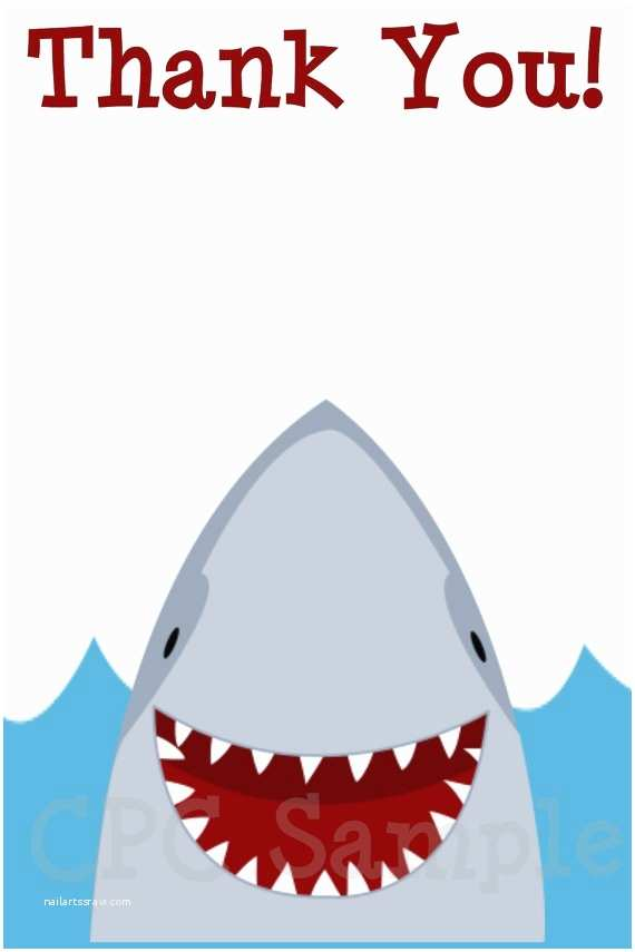 Shark Party Invitations Shark Birthday Invitation Shark Party Invitations
