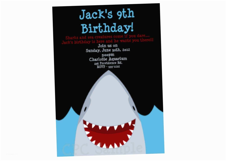 Shark Party Invitations Shark Birthday Invitation Shark Party Invitations Printable