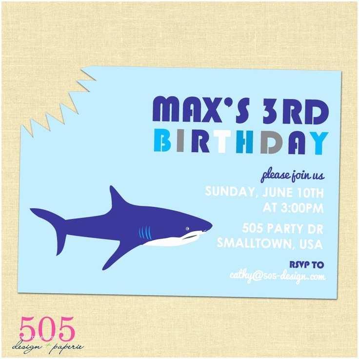 Shark Party Invitations Shark Birthday Party Invitation Party Ideas
