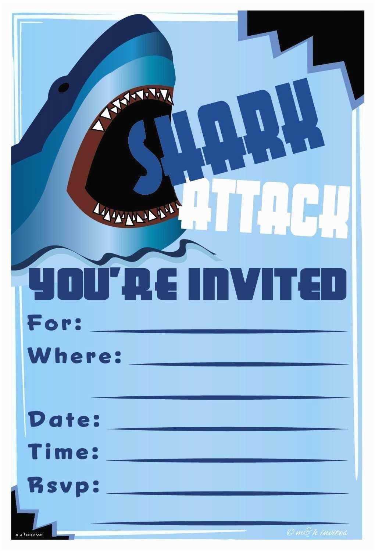 Shark Party Invitations Shark Invitation Template Templates Data