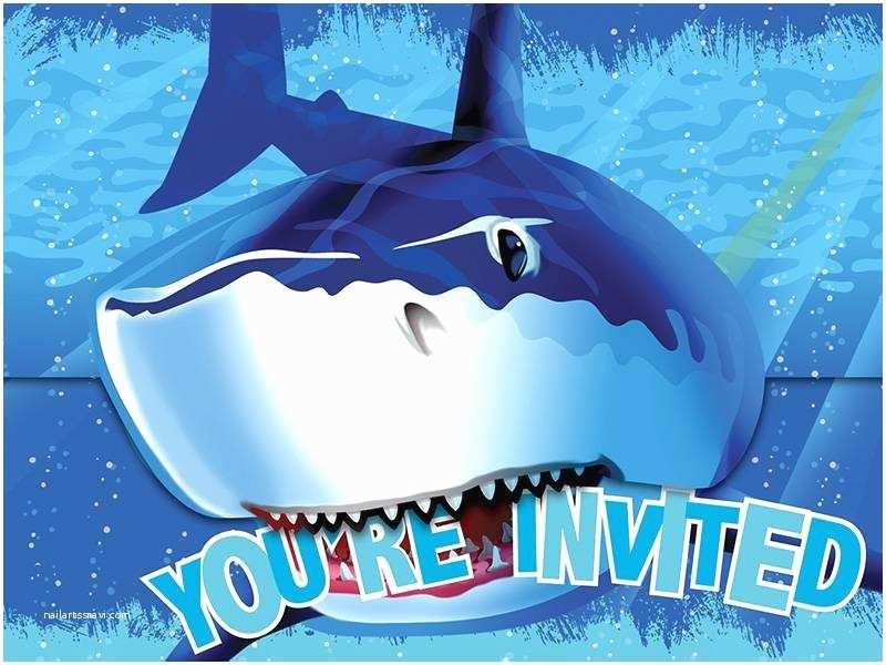 Shark Party Invitations Shark Splash Invitations Jaws themed Boys Birthday Party