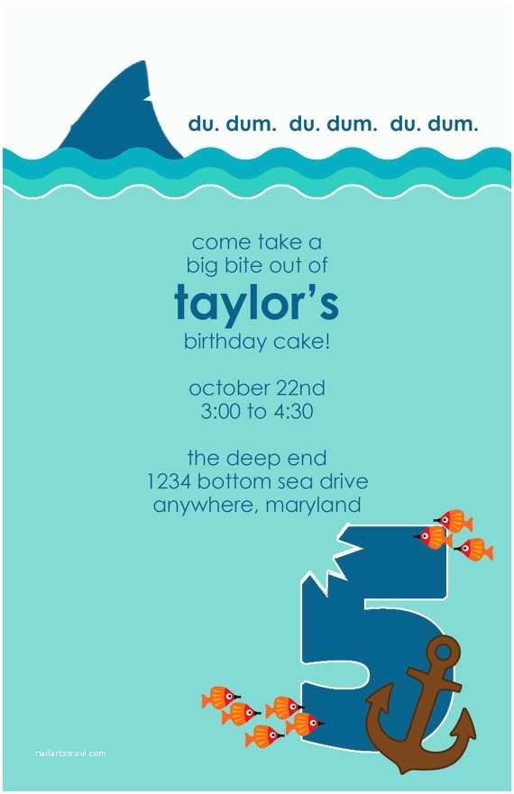 Shark Party Invitations Shark Week Birthday Party Invitation Diy by