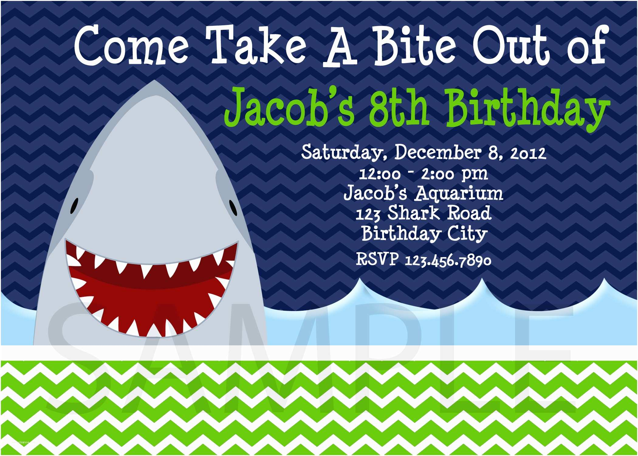 Shark Party Invitations Win A $75 Gift Certificate to the Trendy butterfly