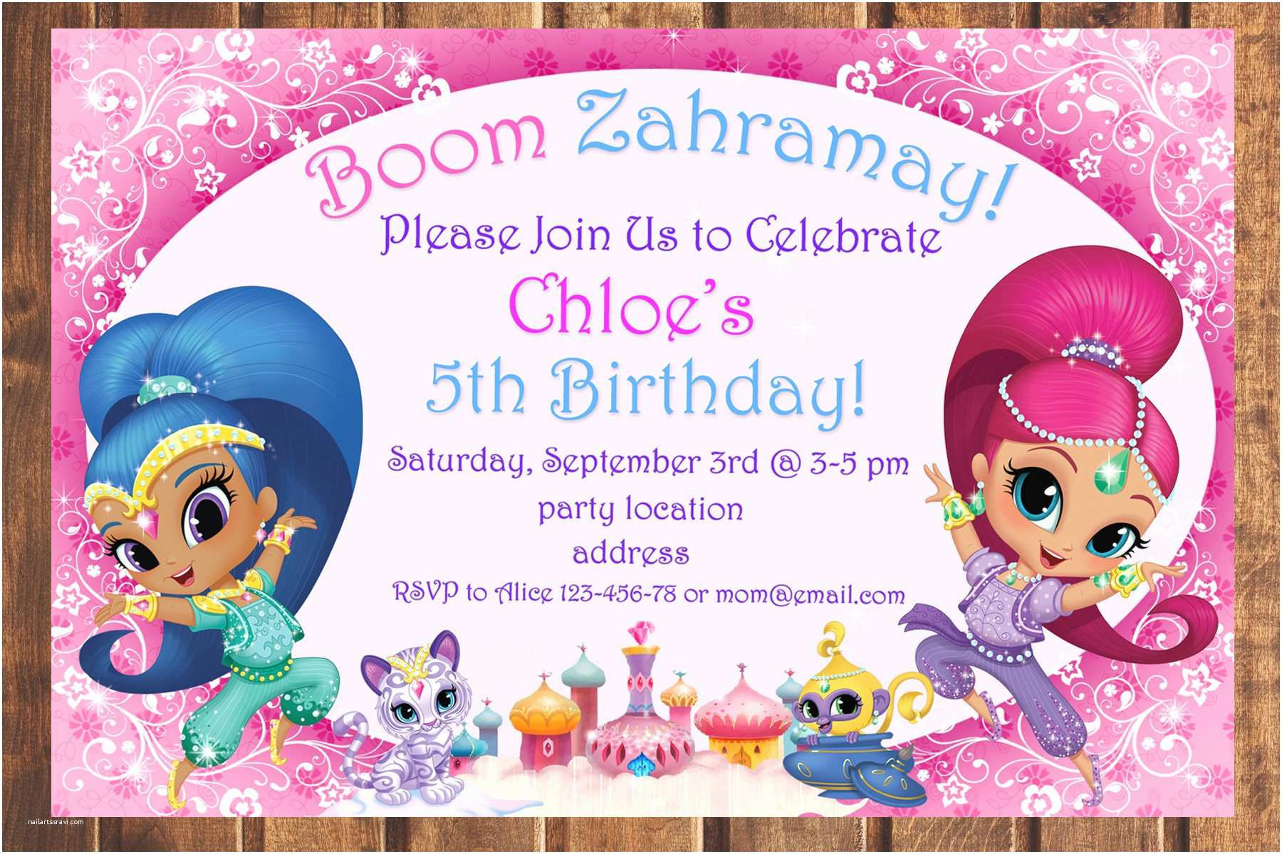 Shimmer and Shine Party Invitations Sale Shimmer and Shine Birthday Invitationshimmer and Shine