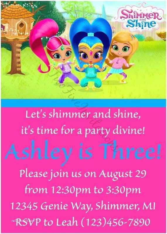 40 Shimmer And Shine Party Invitations Nailartssravi