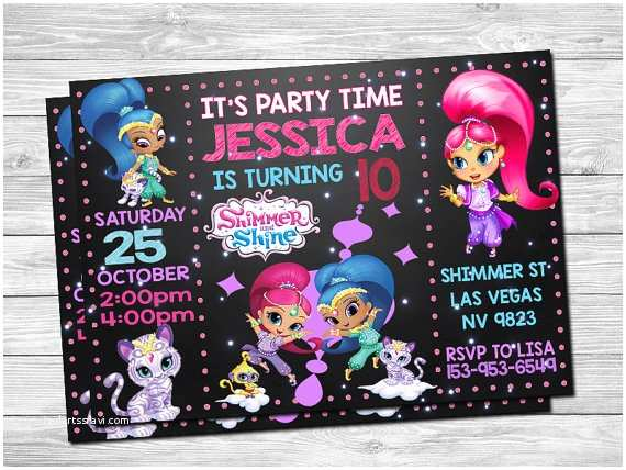Shimmer and Shine Party Invitations Shimmer and Shine Invitation Shimmer and Shine by