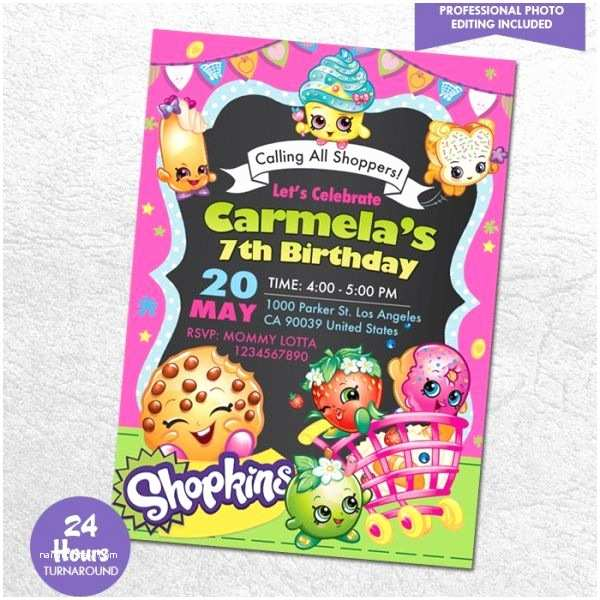 Shopkins Birthday Party Invitations 7 Best Ideias Para O Niver Da Laura Images On Pinterest
