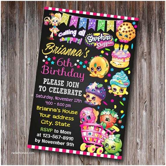 Shopkins Birthday Party Invitations Best 25 Shopkins Invitations Ideas On Pinterest