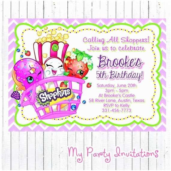 Shopkins Birthday Party Invitations Shopkins Birthday Invitation Printable by Mypartyinvitations
