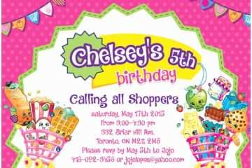 graphic regarding Shopkins Birthday Card Printable identified as Shopkins Birthday Celebration Invites Shopkins Personalized