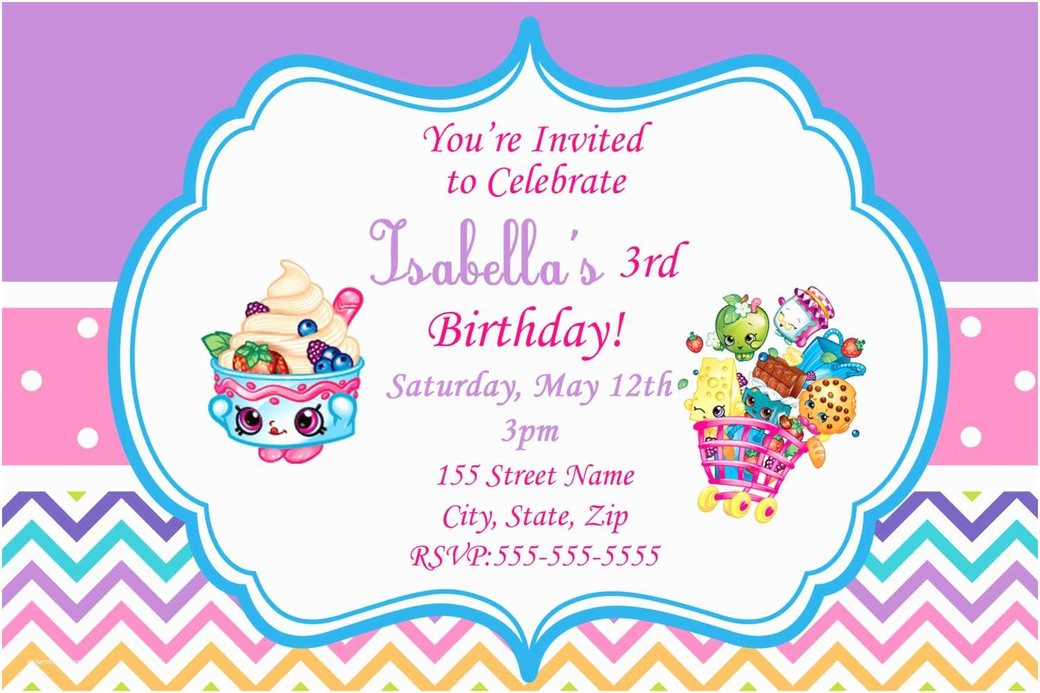 Shopkins Birthday Party Invitations Shopkins Invitations Shopkins Birthday Party by